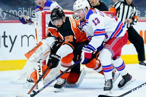 Giroux, Flyers top Rangers 4-3 despite Kreider hat trick
