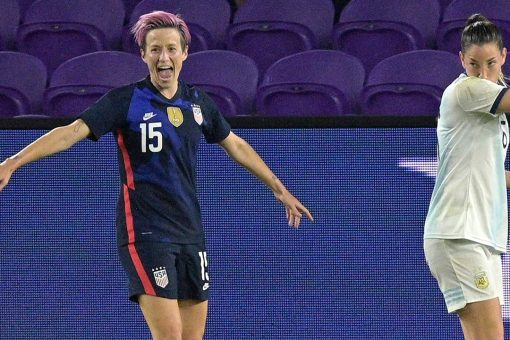 Rapinoe-led US beats Argentina 6-0 to win SheBelieves Cup