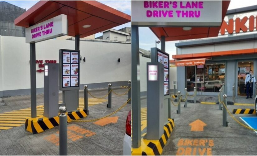 Dunkin' opens first-ever 'bike-thru lane' for cyclists