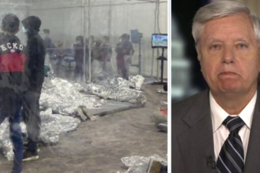 Graham blasts 'Biden administration s—show' at border, demands president, VP 'get off your a–'