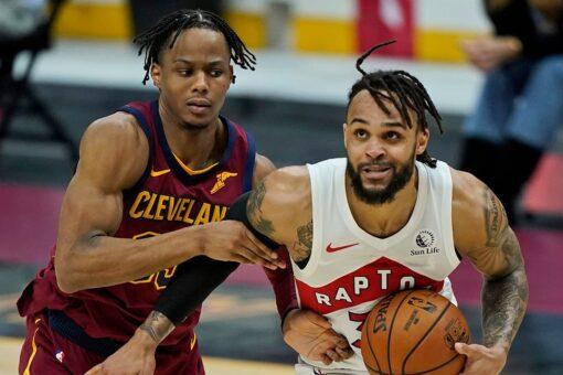 Trent scores career-high 44, Raptors rout Cavaliers 135-115