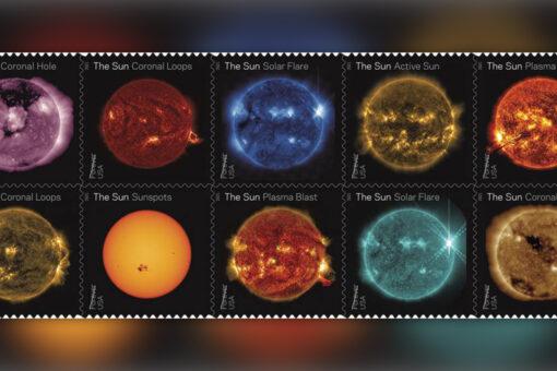NASA, USPS team up to create stunning sun stamps