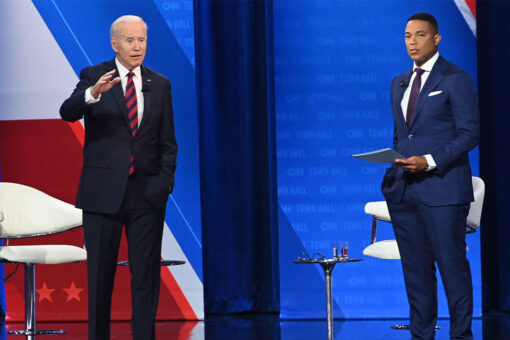 Critics slam Biden for 'sucking the blood out of kids' comment after town hall