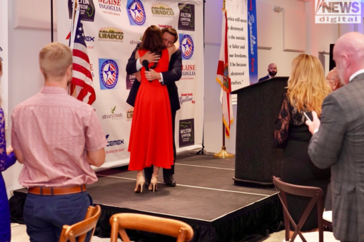 Florida First Lady Casey DeSantis makes surprise first public appearance since breast cancer diagnosis